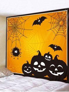2020 Halloween Tapestry Wall Hanging Art Best Online For Sale Halloween Tags, Halloween Wall Decor, Vintage Halloween, Halloween Pumpkins, Fall Halloween, Halloween Crafts, Halloween Decorations, Adornos Halloween, Halloween Disfraces