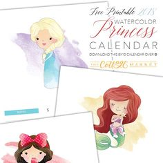 It's time to roll our our Free Printable 2018 Watercolor Princess Calendar. It was so popular last year we brought it back by popular demand! Enjoy!