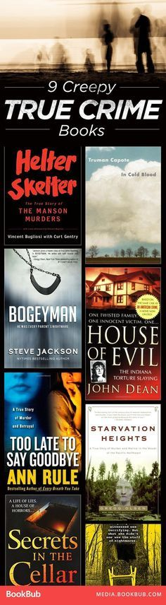 Check out these 9 creepy true crime books worth a read. True stories here! I Love Books, Good Books, Books To Read, My Books, Teen Books, Book Club Books, Book Suggestions, Book Recommendations, Reading Lists