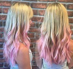 pastel+pink+dip+dye+for+blonde+hair