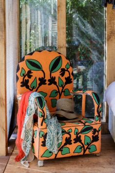 "This colourful chair is from our feature ""Summer Hideaway"""