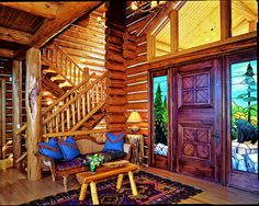 7 Ideas For Creating A Welcoming Log Home Entryway