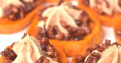 These Sweet Potato Pie Bites are perfect for dessert or part of a holiday meal. Roasted maple sweet potatoes with cinnamon cream cheese and maple pecans make this dish mouth-watering!