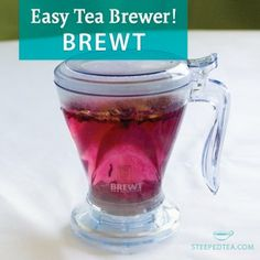 A new way to brew your tea! Simply rest the Brewt over your mug when you are ready to drink and watch your steeped tea filter through. www.teawithphyllis.com