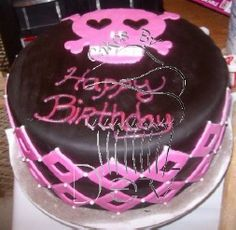 Skull Birthday Cake www.cakesbydey.com Check us out on Facebook!
