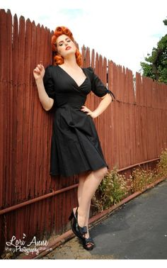 Mallory Dress in Black - Dresses - Clothing | Pinup Girl Clothing