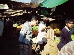 les courses sur le marché