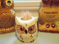 kitchen owls - toothpick holder by buttercup caren, via Flickr