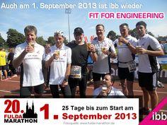 Auch in diesem Jahr bereitet sich das Team der #ibb wieder auf den nunmehr 20. #FuldaMarathon vor. Der Startschuss fällt auch am 1. September 2013 wieder im Stadion der Stadt Fulda.