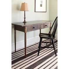 Dash & Albert Cottage Lenox wool rug with desk