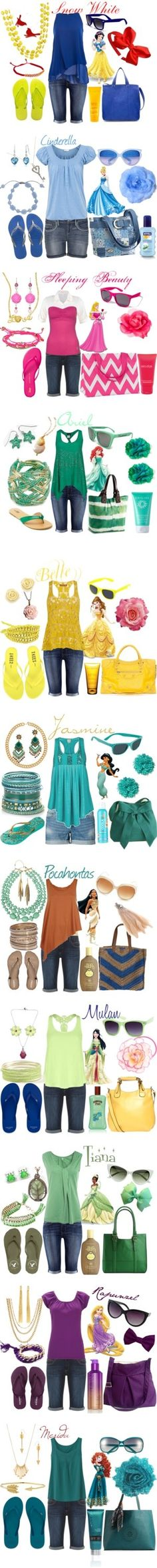 """Park Princesses"" by merahzinnia on Polyvore"