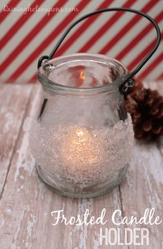 Frosted Candle Holder - Raining Hot Coupons