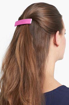 Women's L. Erickson Covered Rectangular Barrette - Pink