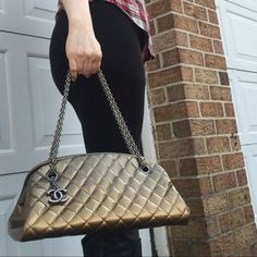Chanel Quilted Patent Leather Bag