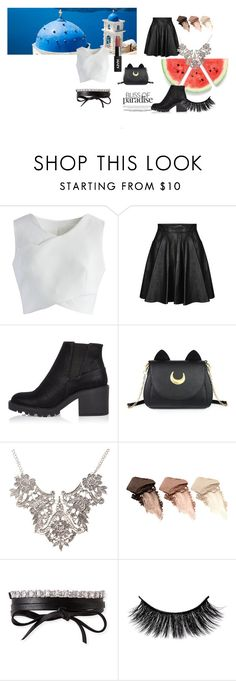 """greek nights"" by akidesekerii on Polyvore featuring moda, Chicwish, Jeremy Scott, River Island, Usagi, Urban Decay ve Fallon"