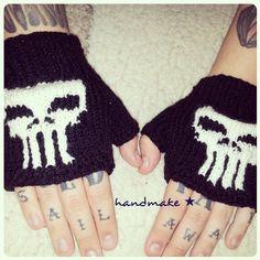 Mittens Punisher for #fans in #shop #handmakeorgua #handmake #handmade #Marvel #Punisher #mittens #митенки #Каратель #марвел https://www.etsy.com/shop/HandmakeOrgUa