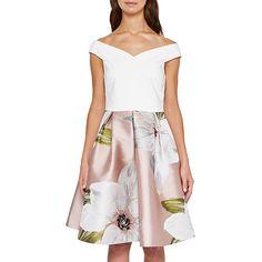 BuyTed Baker Chatsworth Jacquard Dress, Natural, 4 Online at johnlewis.com