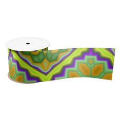 A colorful green yellow, orange and more color pattern with a unique and decorative shapes that make thus pattern trendy and stylish. You can also customize it to get a more personal look. Ribbon Design, Orange, Yellow, Abstract Pattern, Customized Gifts, Color Patterns, Create Your Own, Colorful, Shapes