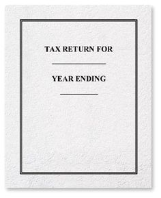 Income Tax Return Cover, Color Choice. • Size: 8 5/8 x 11