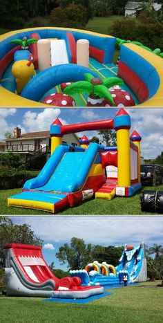 In need of party inflatables for rent? Premier Bounce N' Slide Party Rentals can help you with that. They provide water slide rentals, rental bounce houses and more.
