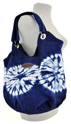 09e7e08ebfc0 The cotton fabric for these bags is tie-dyed with organically grown indigo  in El