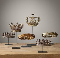 19TH C. Crowns On Stand Collection - Restoration Hardware