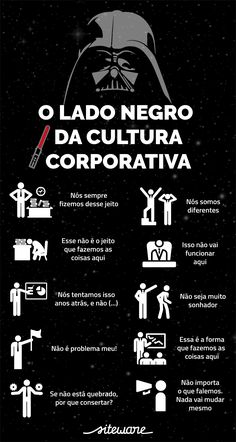 Descubra qual é o lado negro da cultura corporativa! Change Management, Business Management, Business Planning, Alta Performance, Job Coaching, Web Design, Human Resources, Album, Business Marketing