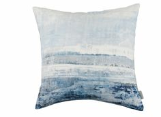 A calm, impressionist seascape printed on fine linen. Designer Fabrics & Wallcoverings, Upholstery Fabrics