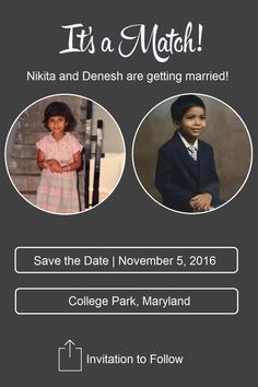 Our save the date #tinder #babyphotos