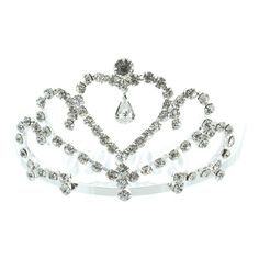 Kate Marie 'dania' Rhinestone Crown Tiara Hair Pin in Silver ($14) ❤ liked on Polyvore featuring jewelry, brooches, grey, jewelry & watches, sparkle jewelry, rhinestone brooch, crown jewelry, rhinestone broach and rhinestone crown