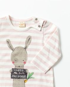 Image 3 of STRIPED T-SHIRT WITH ANIMAL DESIGN from Zara