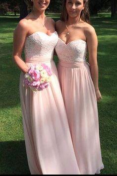 Blush prom dress, bridemaid dress, cute pink chiffon sweetheart prom dress