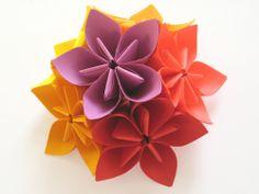 kusami origami flower tutorial