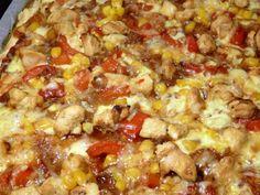 Pizza de pollo barbacoa, Receta por Anita Cocinitas - Petitchef
