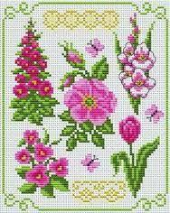 flower cross stitch ile ilgili görsel sonucu