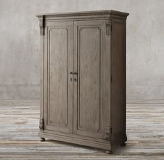 RH's St. James Armoire:Evoking the architectural classicism of turn-of-the-century design, St. James is grand in both scale and beauty.
