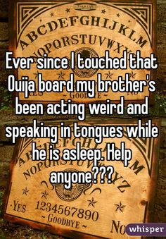 """19 Crazy Ouija Board Stories That Will Completely Shock You (I have really weird stuff happen to me all of the time . I don't need any """"extra"""" LOL) Spooky Stories, Weird Stories, Ouija Stories, Ghost Hauntings, Speaking In Tongues, Whisper Confessions, Whisper App, Creepy Horror, Halloween Porch Decorations"""