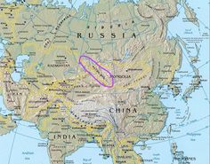 Altai mountains. Into Altai Republic. Russian Federation.