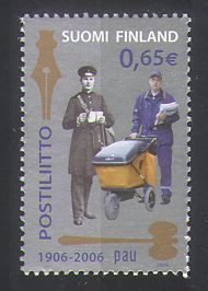 Finland 2006 Post/Postmen/Uniforms/Cart/Postal Union/Mail 1v (n36381)