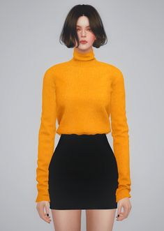SLIM KNIT TURTLENECK | BY2OL
