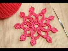 Вязание ЦВЕТКА крючком - мастер класс - Crochet 3D Flower Pattern - YouTube