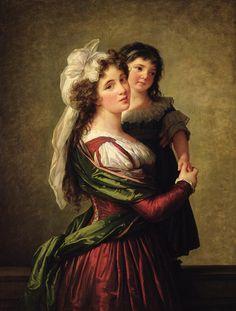 Elisabeth Louise Vigee Lebrun Painting - Madame Rousseau And Her Daughter by Elisabeth Louise Vigee Lebrun