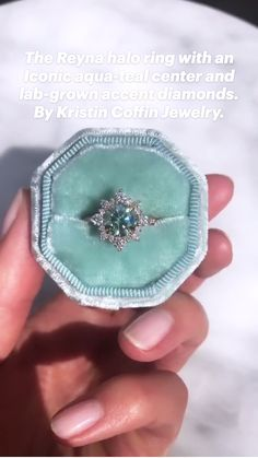 Beautiful Engagement Rings, Halo Engagement, Vintage Engagement Rings, Sapphire Engagement Rings, Different Engagement Rings, Colored Engagement Rings, Engagement Ring Styles, Pretty Rings, Beautiful Rings