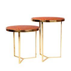 TARSIA SIDE TABLE SET
