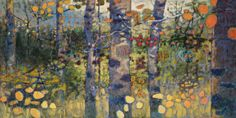 "Loitering In Mystery oil on canvas | 48 x 96"" | 2017 Rick Stevens Art"