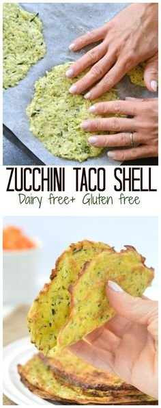 Gluten Free Zucchini Taco Shell are a super healthy soft taco idea for your next party! Thin, soft and won't crack! Easy to use as a tortilla or soft taco shell. No cheese in this recipe but healthy coconut flour and more! Click and get your recipe for your next game night! #grainfree #glutenfree #dairyfree | https://lomejordelaweb.es/
