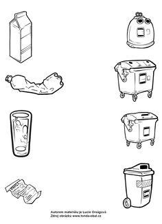 Pracovní list - spoj odpad se správnou popelnicí Math, Math Resources, Mathematics