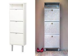 szafka przed i po http://www.kupilismystarydom.pl/metamorfoza-taniej-szafki-na-buty-krok-po-kroku/