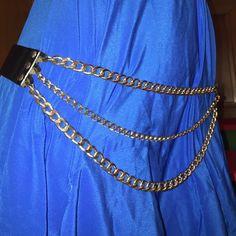 Versus Versace black chain belt nwot sz medium Retail $1275!!! Sold out sz medium Versace Accessories Belts