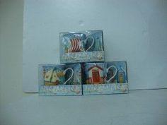 2PC SEASIDE TEA SET / 3ASST, GIFT BOXED